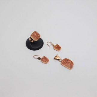 Set de cobre y Cerámica Mata Ortíz SetCMOC/014