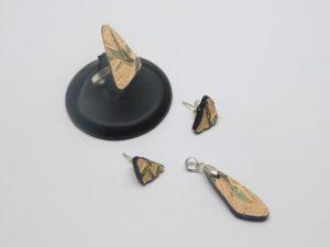 Mosaico plateado y cerámica Mata Ortiz,. Pídalo con la clave: MoCMOpt/004. PIEZA ÚNICA