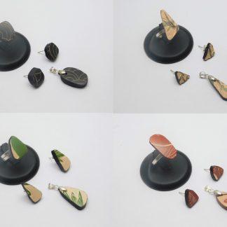 Joyería plateada y cerámica Mata Ortiz